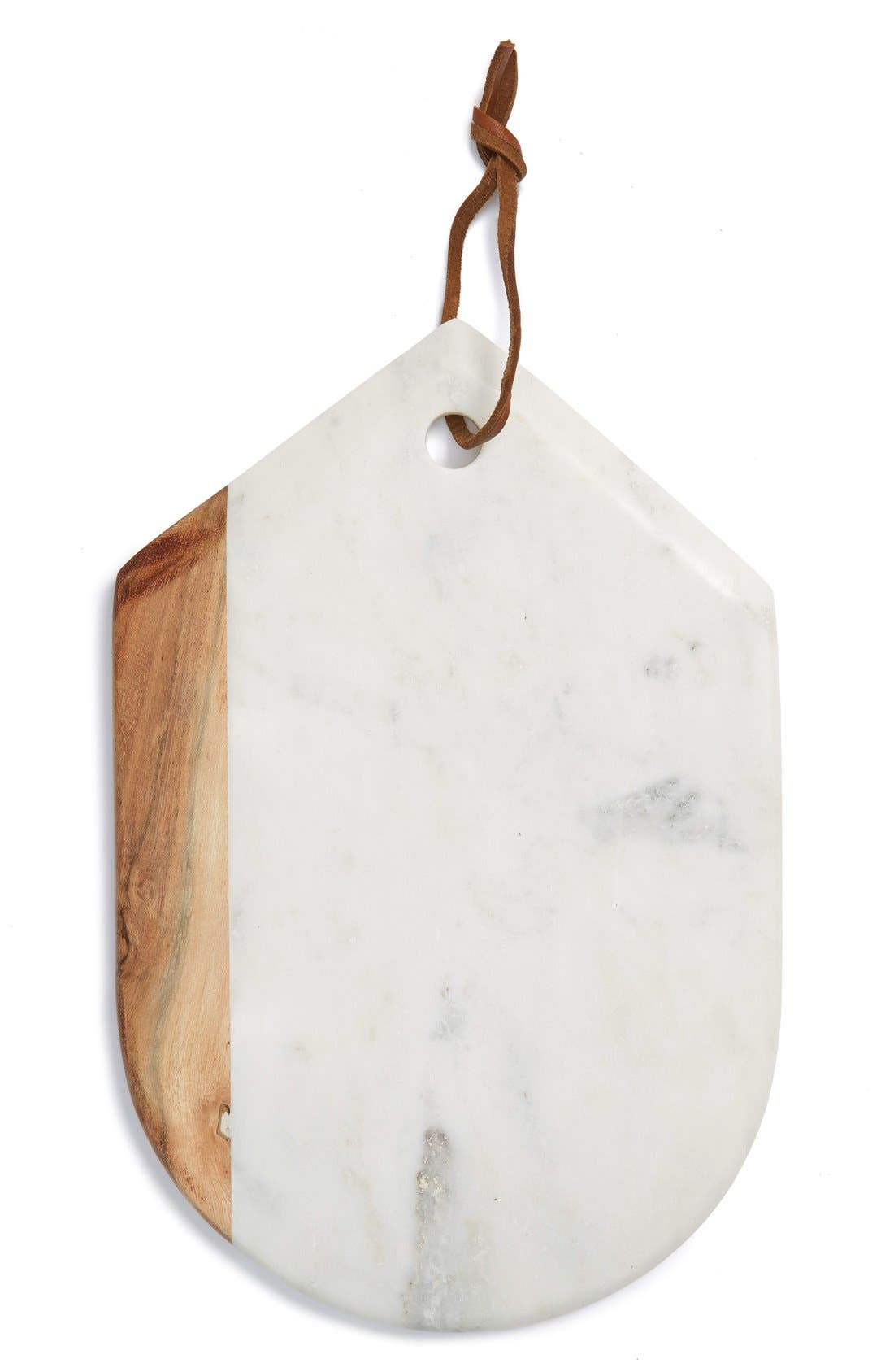 Alternate Image 1 Selected - Thirstystone Marble & Wood Oval Serving Board