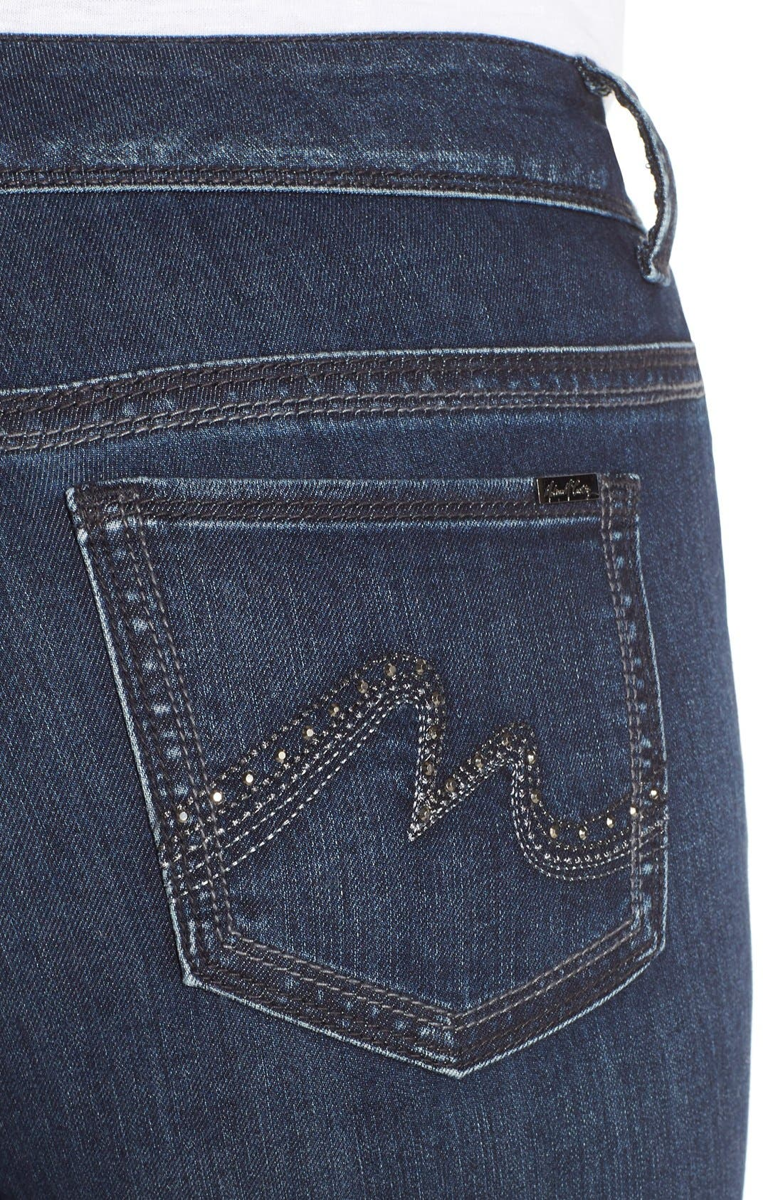 Alternate Image 4  - Melissa McCarthy Seven7 High Rise Pencil Jeans (Blissful) (Plus Size)