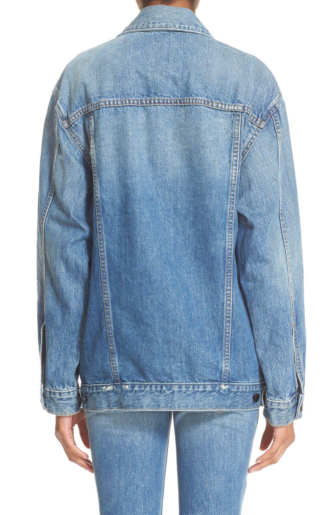 Alternate Image 2  - T by Alexander Wang Daze Oversized Denim Jacket