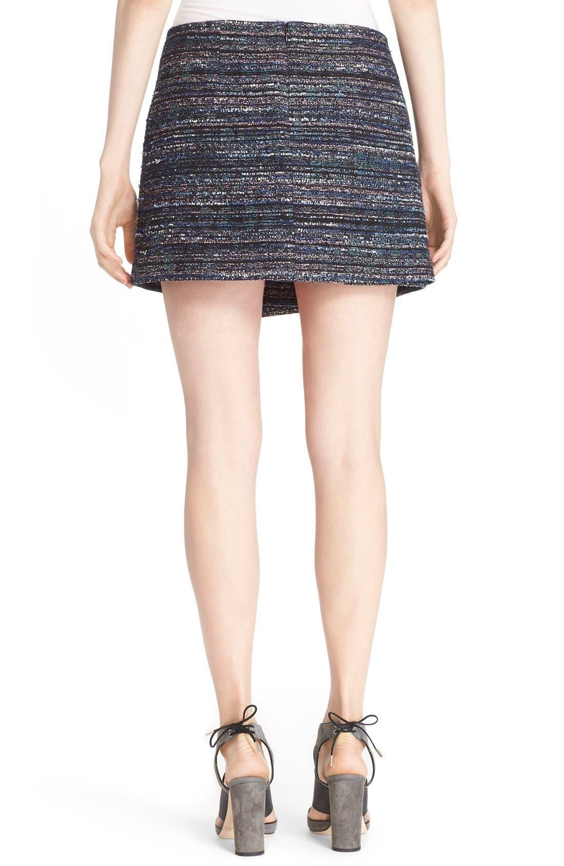 Alternate Image 2  - Diane von Furstenberg 'Austyn' Woven Tweed Miniskirt