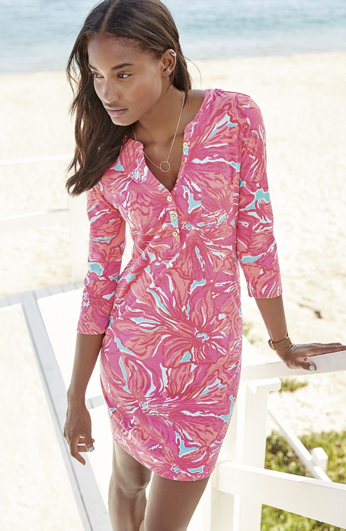 Alternate Image 7  - Lilly Pulitzer® 'Alessia' Print Pima Cotton T-Shirt Dress (Nordstrom Exclusive)