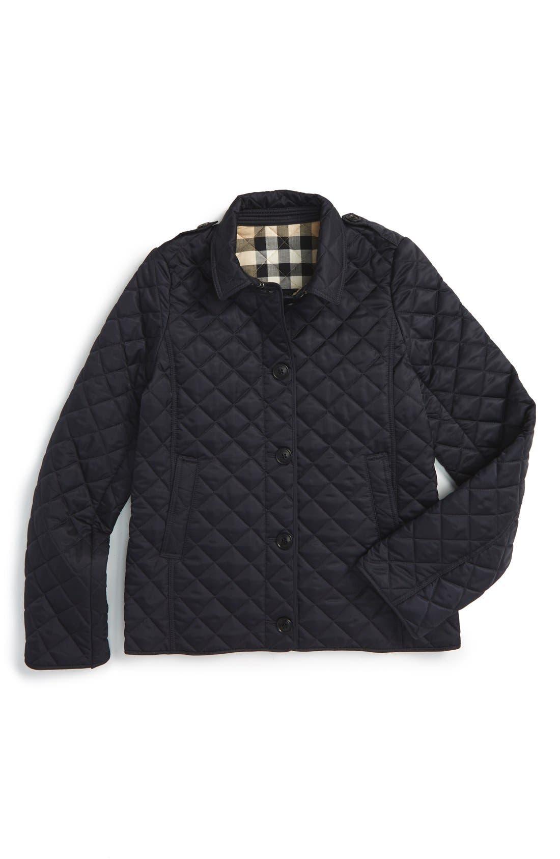 Burberry 'Mini Ashurst' Quilted Jacket (Little Girls & Big Girls)