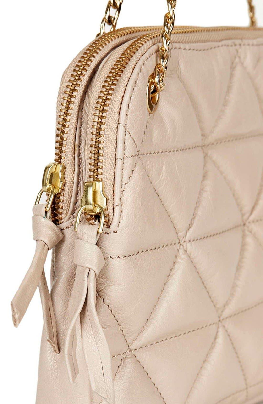 Alternate Image 5  - Topshop Quilted Leather Shoulder Bag