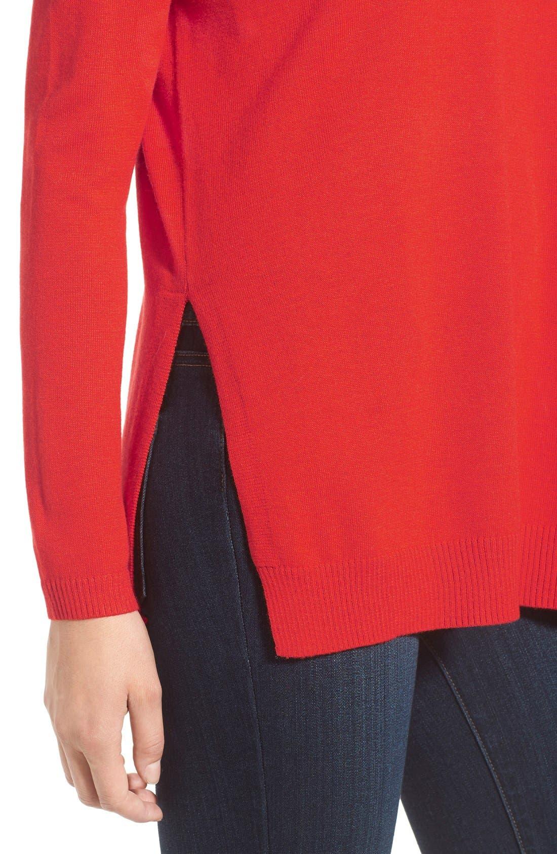 Alternate Image 4  - Trouvé V-Neck Tunic Sweater