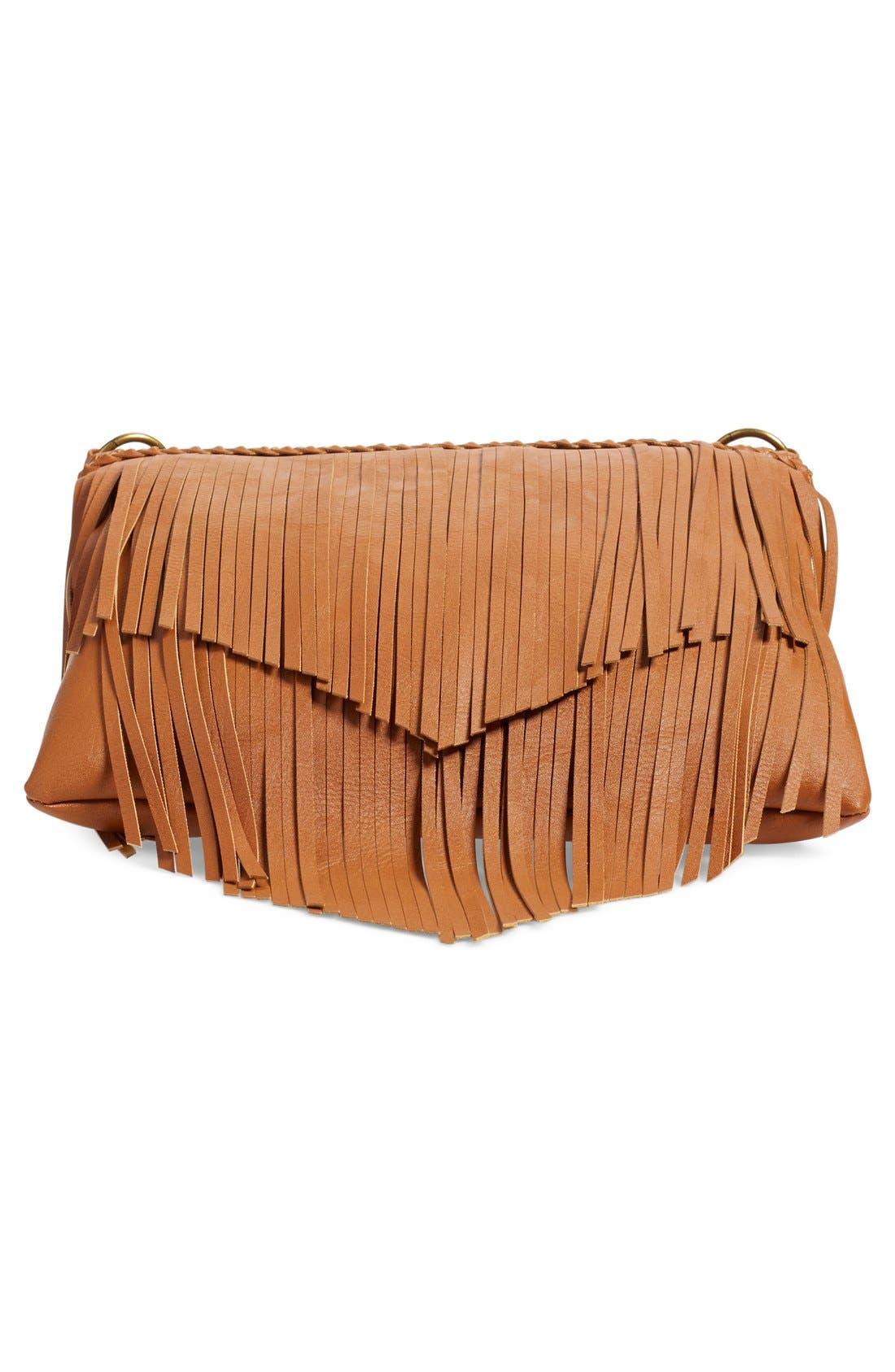 Alternate Image 6  - BP. Layered Fringe Crossbody Bag