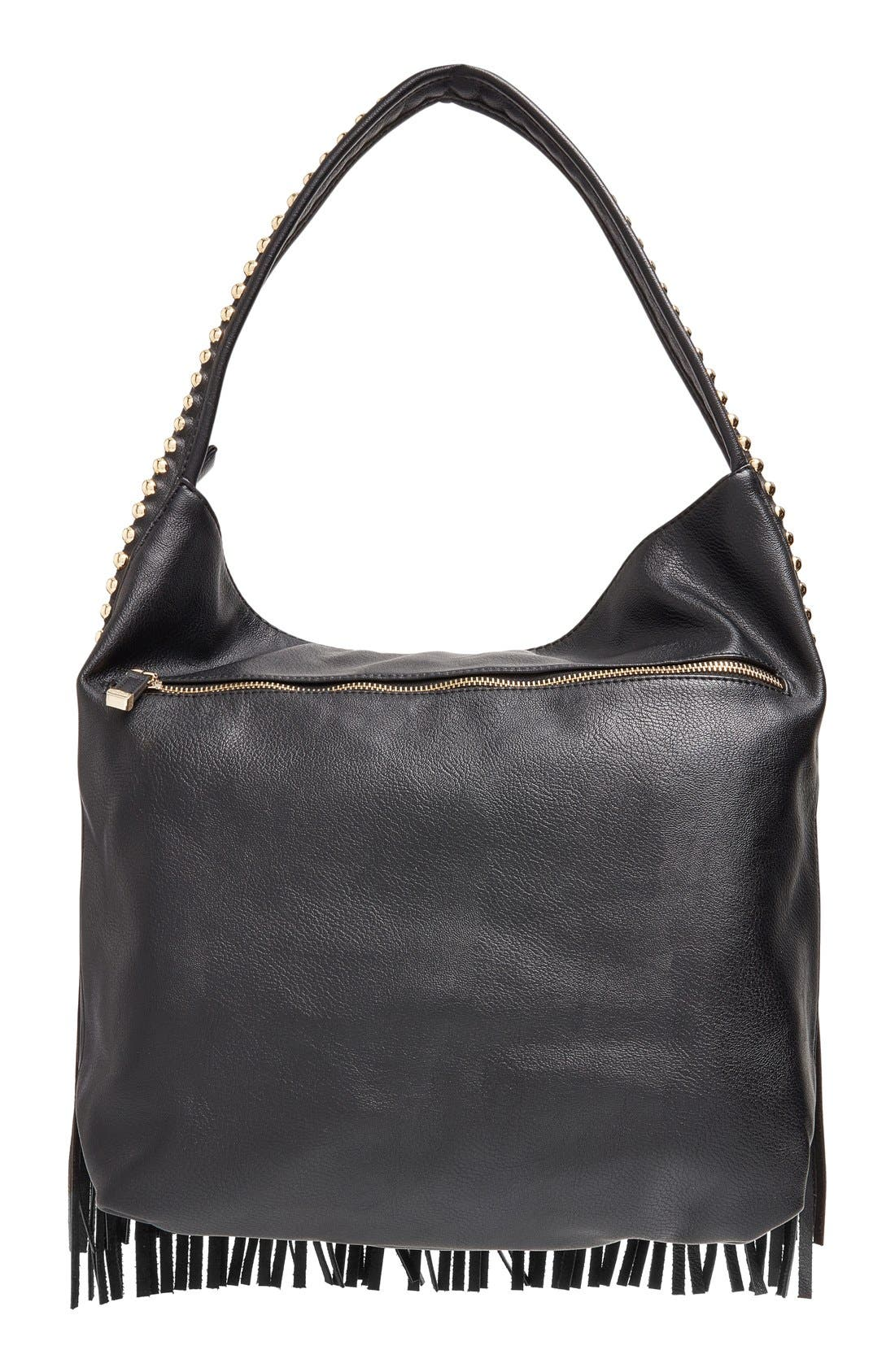 Alternate Image 3  - Big Buddha 'JGiada' Fringe Faux Leather Ball Hobo