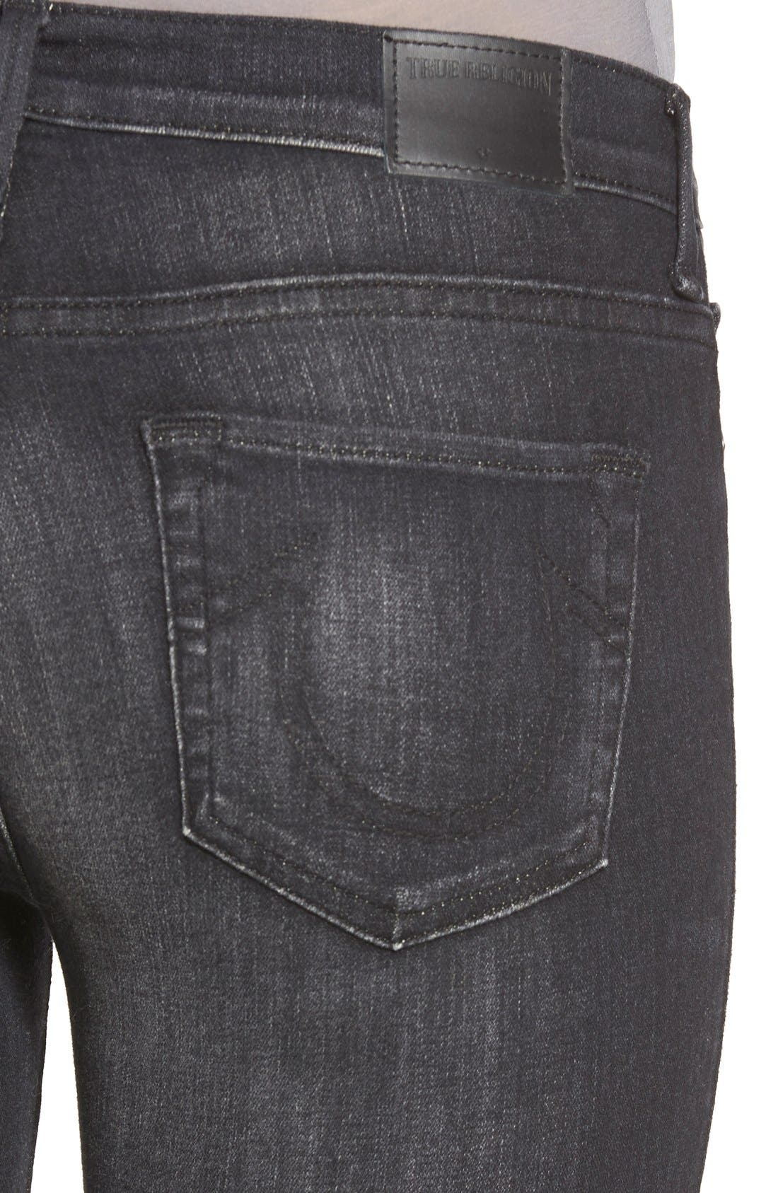 Alternate Image 4  - True Religion Brand Jeans 'Halle' Skinny Jeans (Authentic Black)