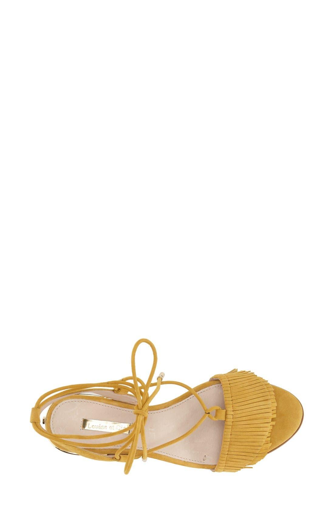Alternate Image 3  - Louise et Cie 'Cyan' Fringe Sandal (Women)
