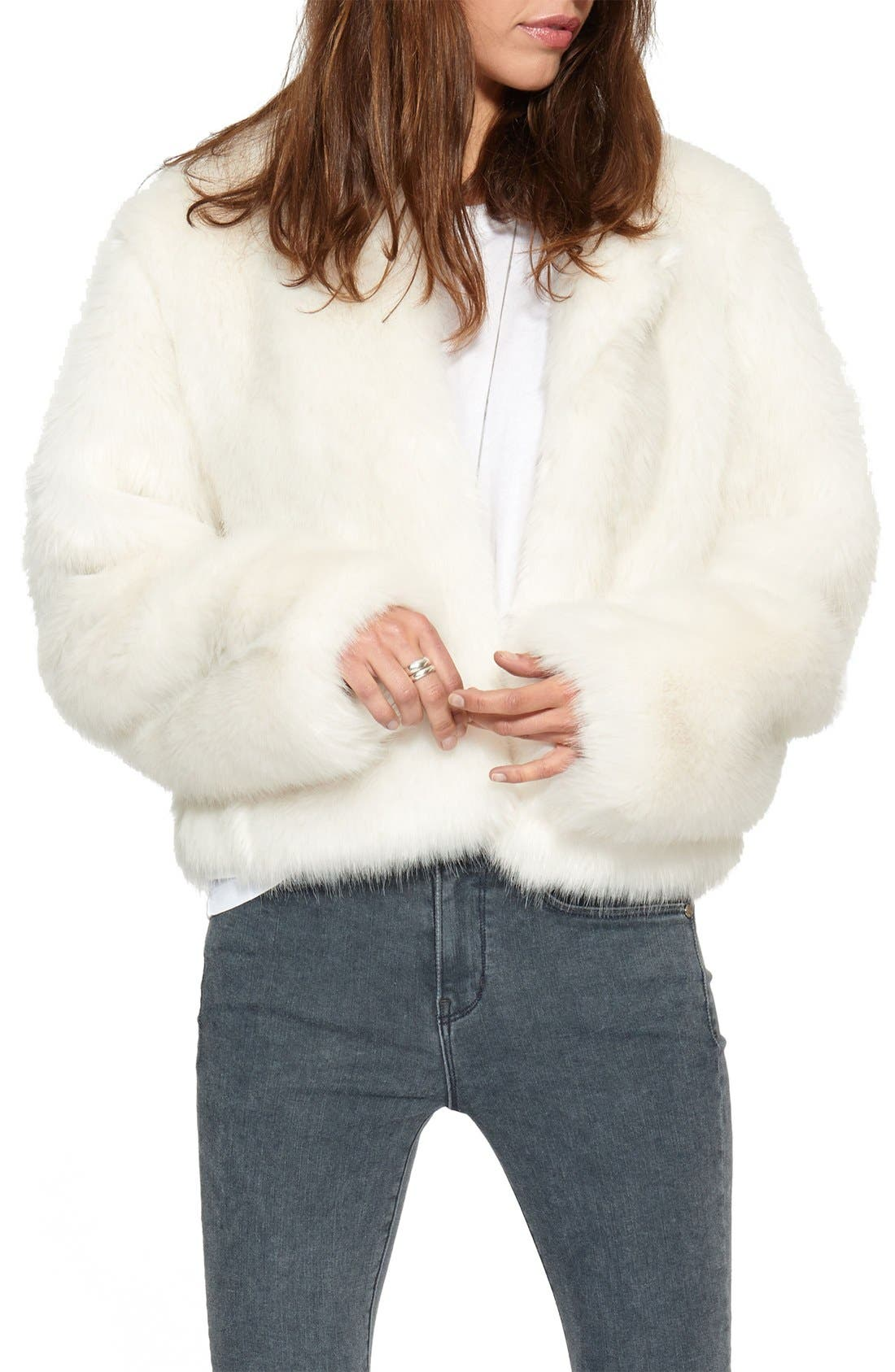 Alternate Image 1 Selected - n:PHILANTHROPY 'Heather' Faux Fur Jacket