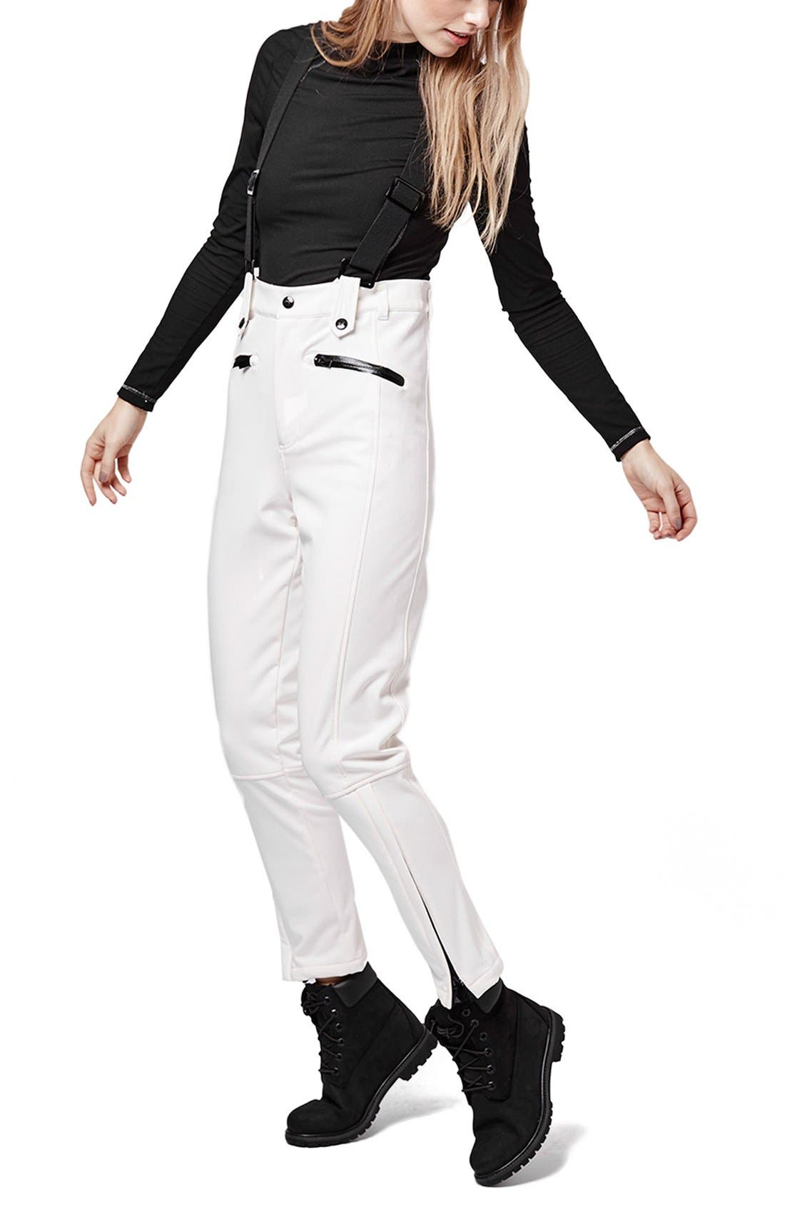 Alternate Image 1 Selected - Topshop 'Tyrian' Overall Ski Pants