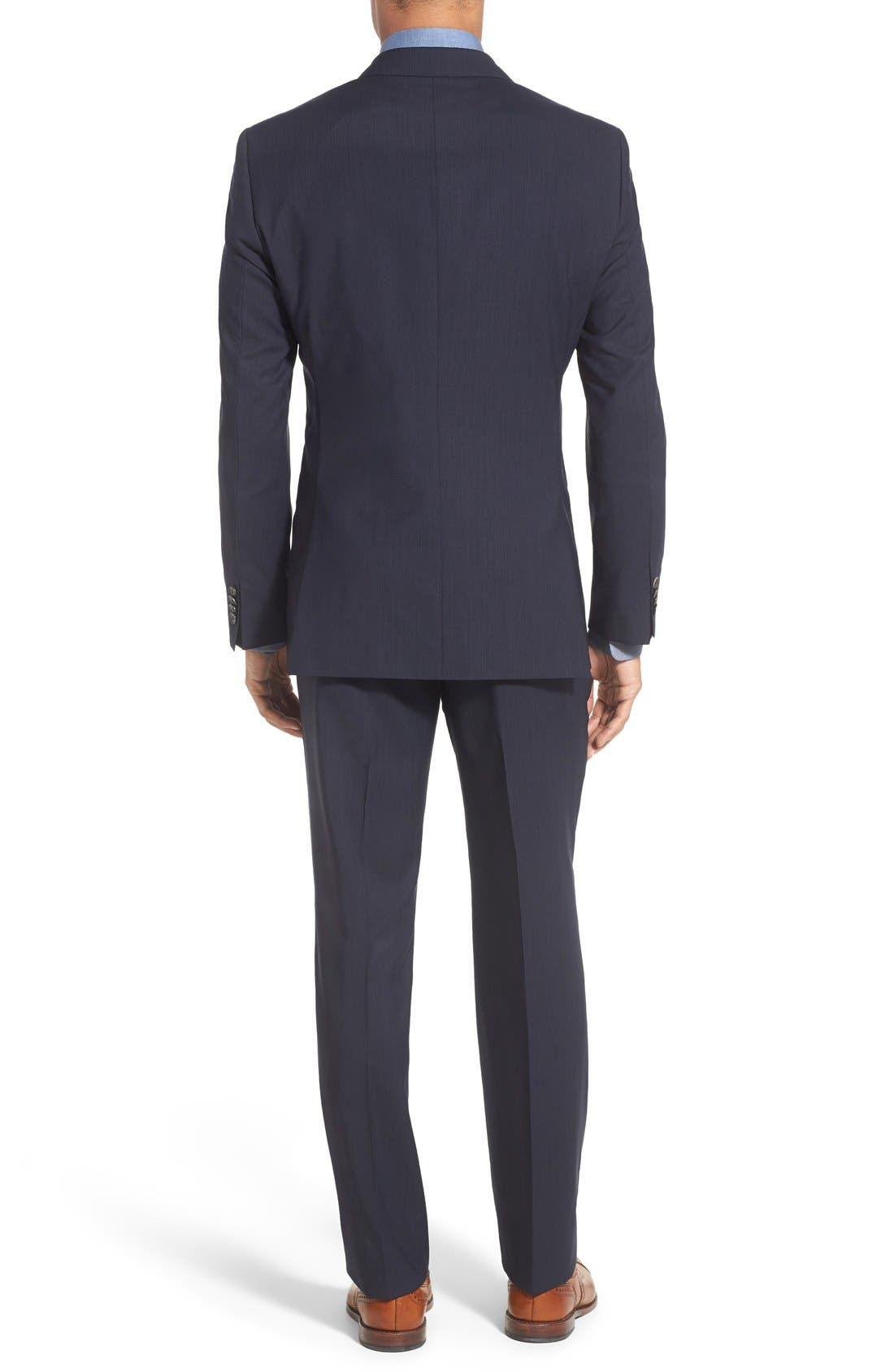 Alternate Image 2  - BOSS 'James/Sharp' Trim Fit Stripe Wool Suit