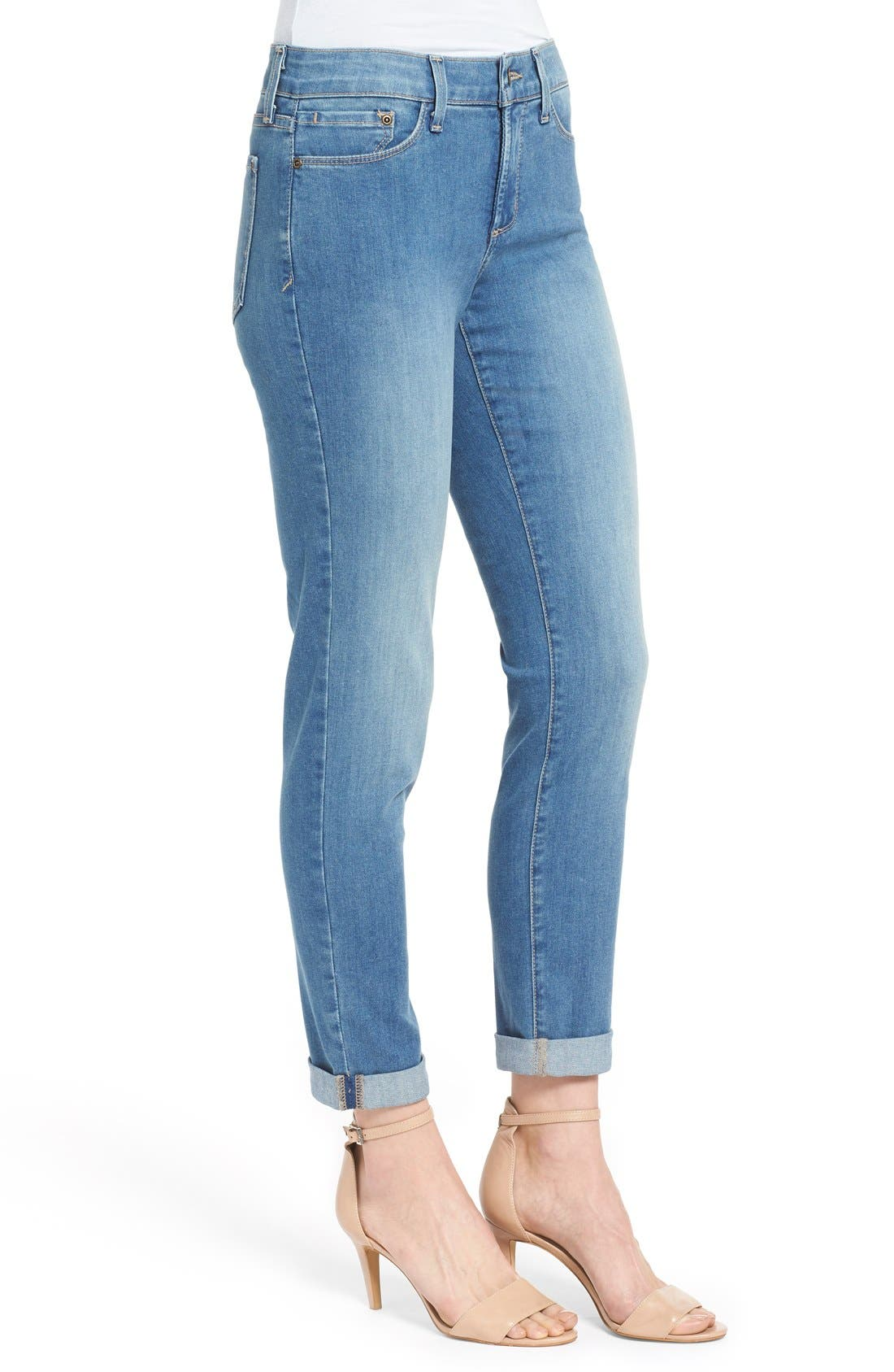 Alternate Image 3  - NYDJ 'Anabelle' Stretch Skinny Boyfriend Jeans (Upper Falls) (Regular & Petite)