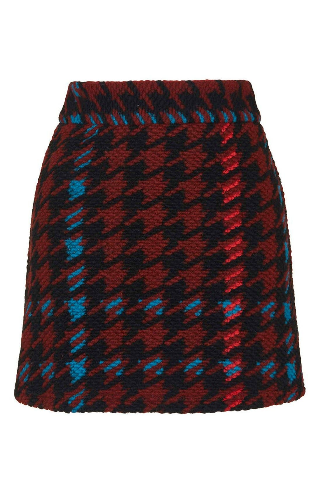 Alternate Image 4  - Topshop Houndstooth High Rise A-Line Skirt