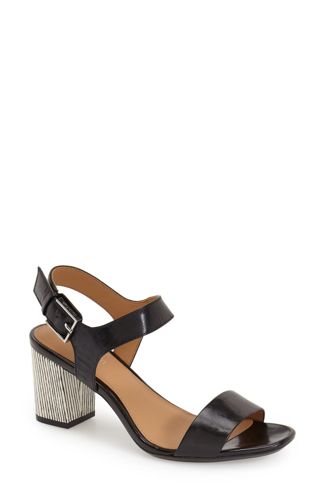 Alternate Image 1 Selected - Calvin Klein 'Cimi' Block Heel Sandal (Women)