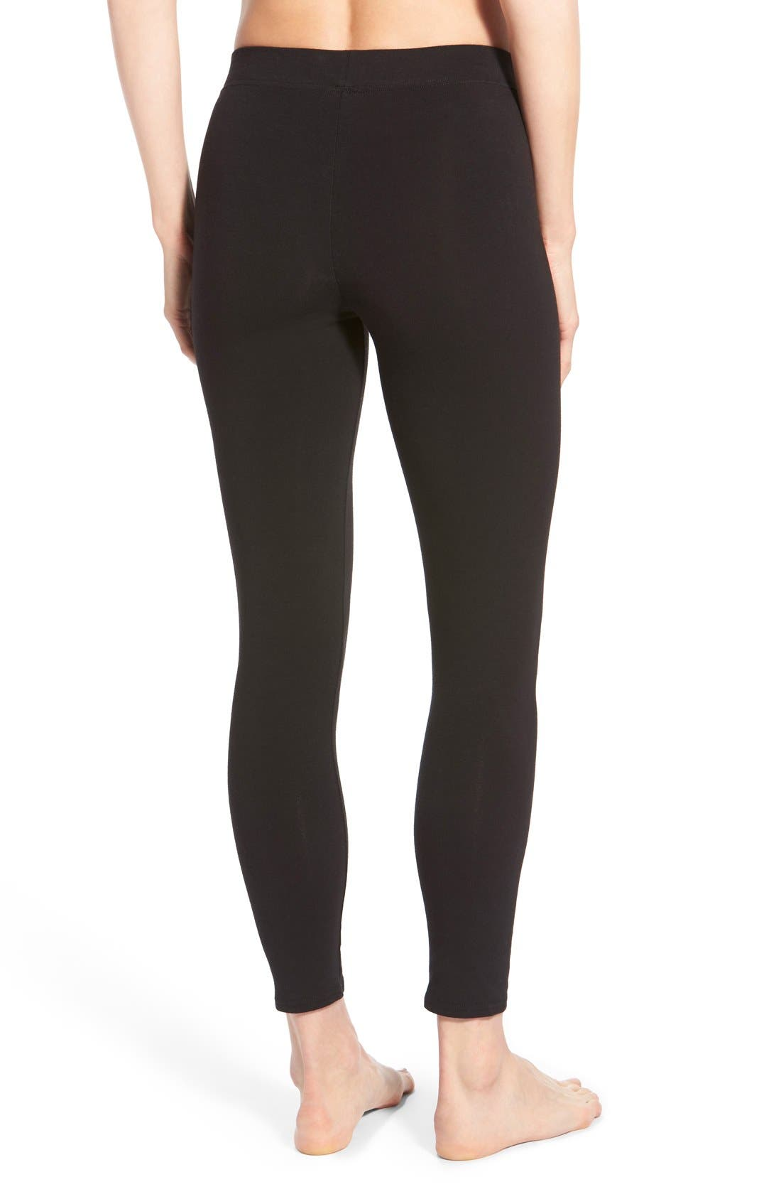 Alternate Image 2  - Nordstrom Go-To Skimmer Ankle Leggings