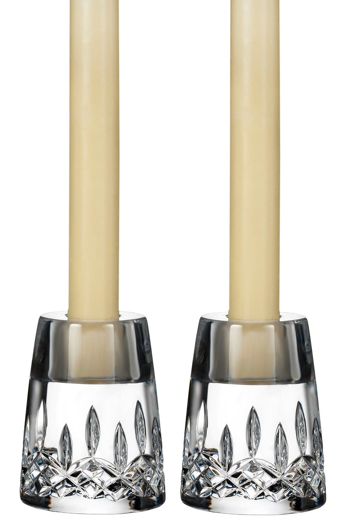 Waterford 'Lismore Encore' Lead Crystal Candlesticks (Set of 2)