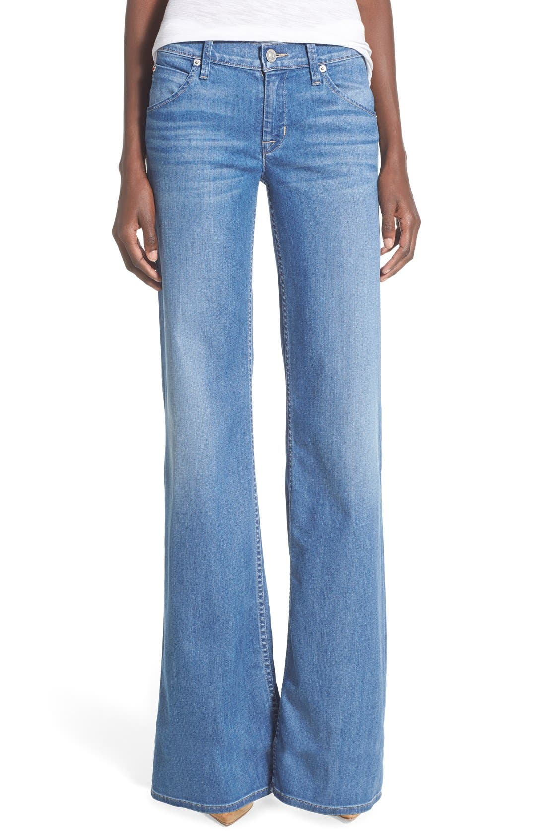 Main Image - Hudson Jeans 'Brooke' Wide Leg Jeans (Nightingale)