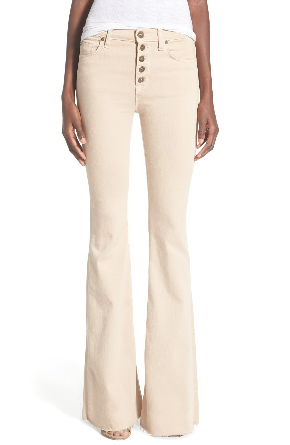 Alternate Image 1 Selected - Hudson Jeans 'Jodi' Flare Jeans (Parachute Khaki)