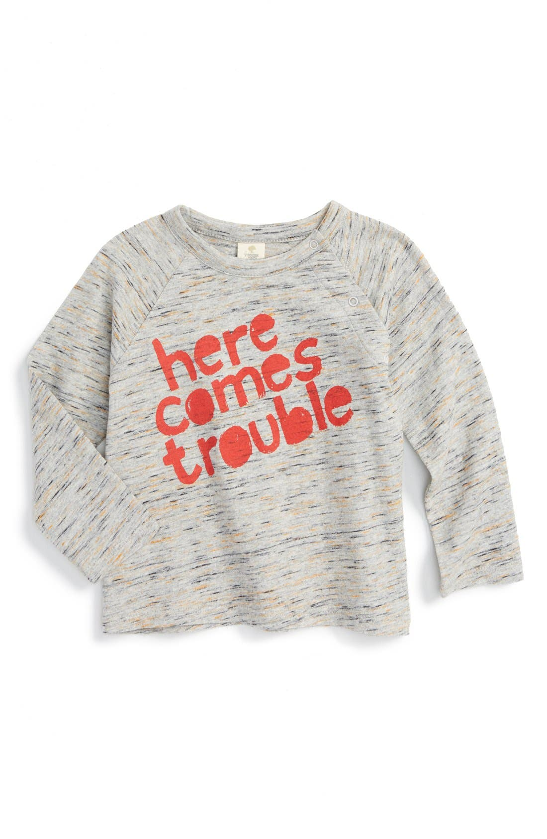 Alternate Image 1 Selected - Tucker + Tate 'Knock Knock' Space Dyed Long Sleeve T-Shirt (Baby Boys)
