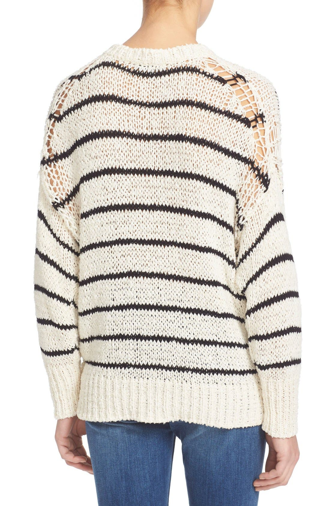 Alternate Image 2  - IRO Stripe Cotton Blend Knit Sweater
