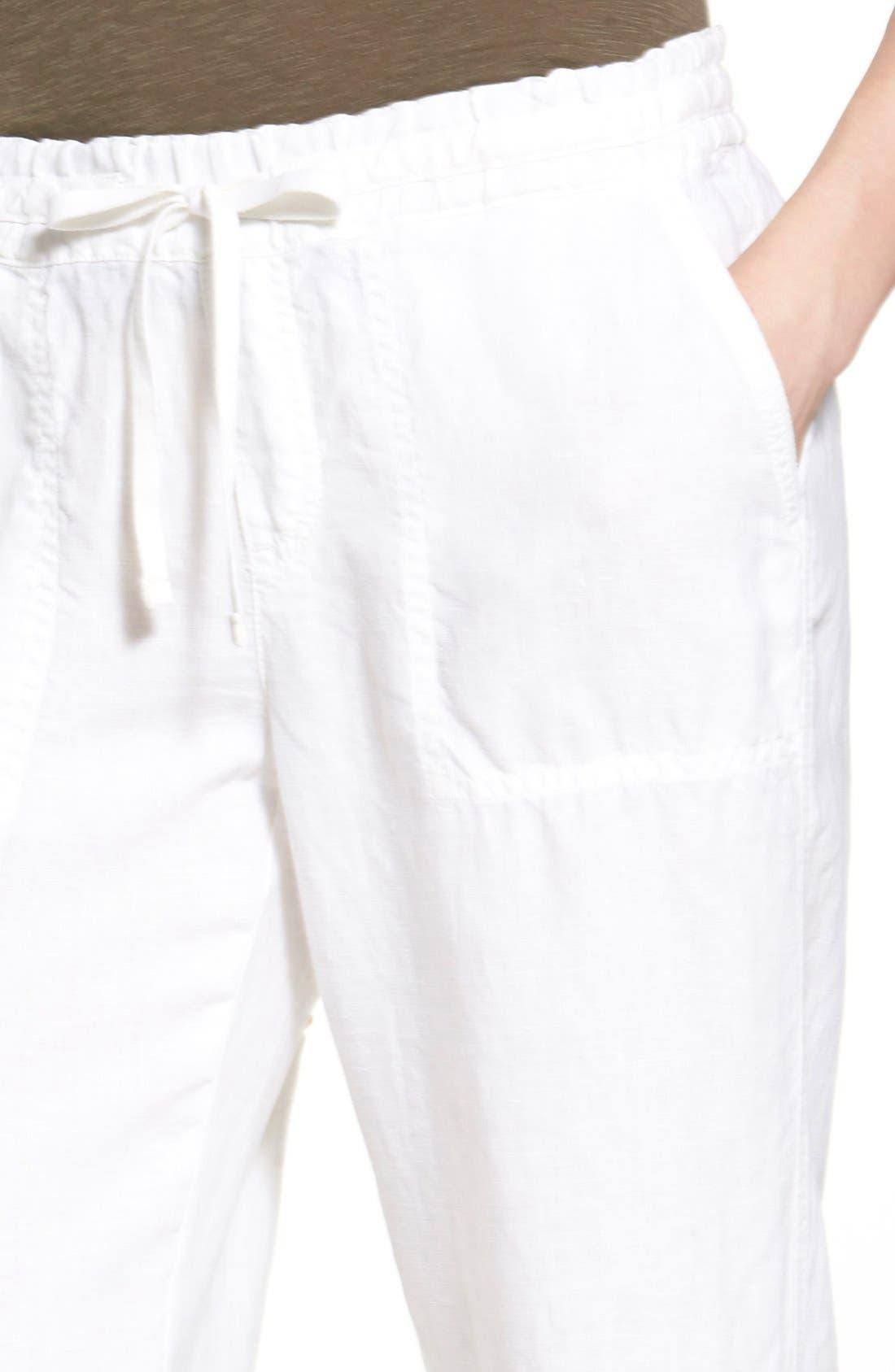 Alternate Image 6  - Caslon® Drawstring Linen Pants (Regular & Petite)