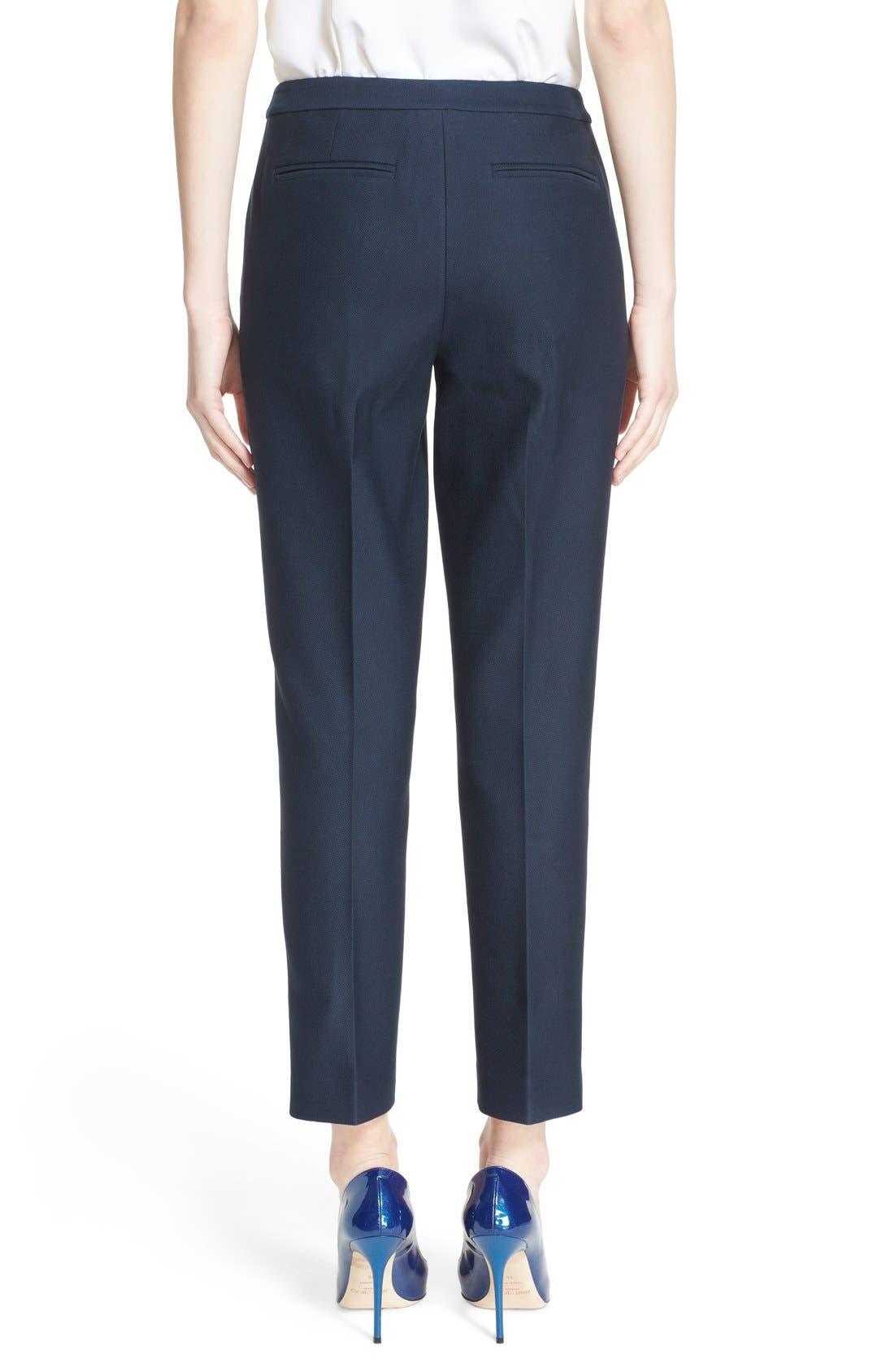 Alternate Image 2  - Nordstrom Signature and Caroline Issa 'Raindrop' Slim Cotton Ankle Pants