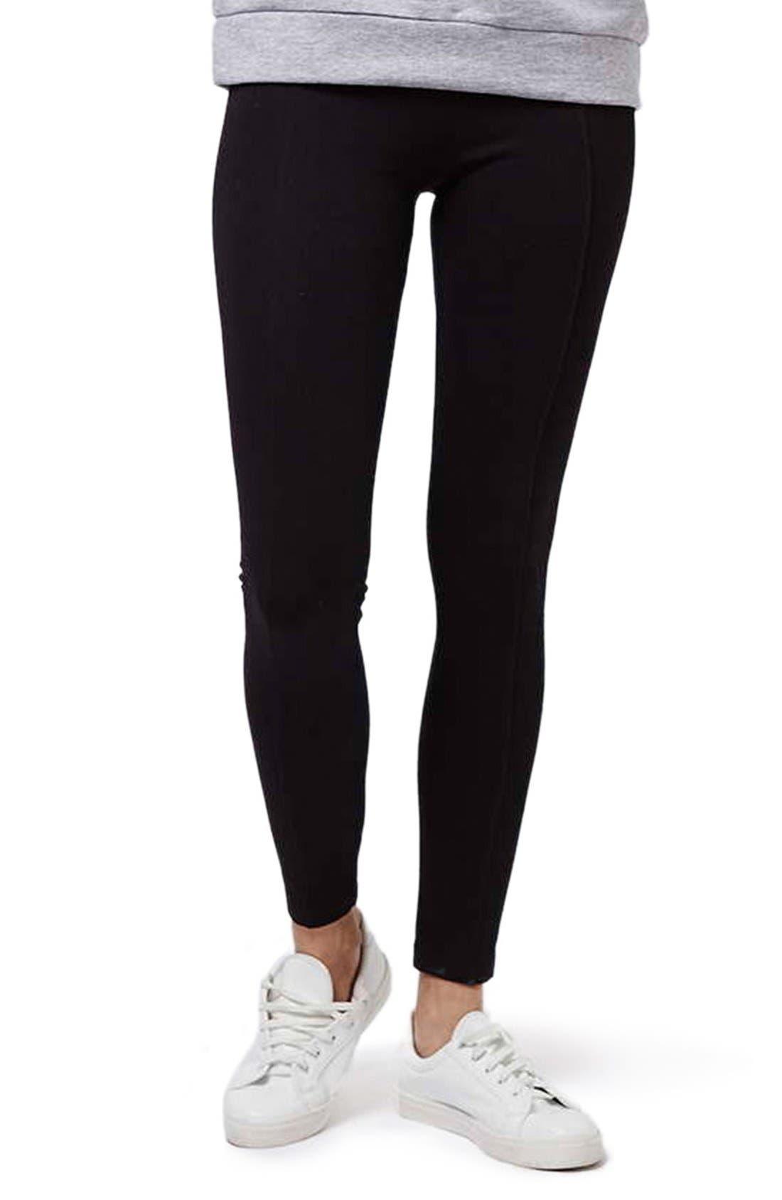 Alternate Image 1 Selected - Topshop Elastic Stripe Leggings