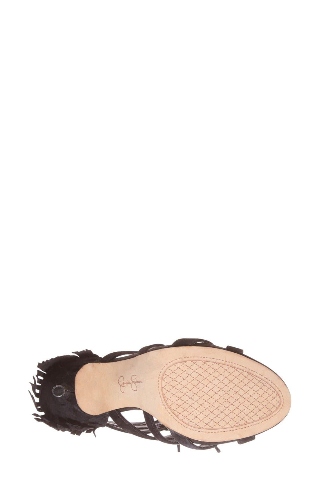 Alternate Image 4  - Jessica Simpson 'Bregan' Cage Fringe Sandal (Women)