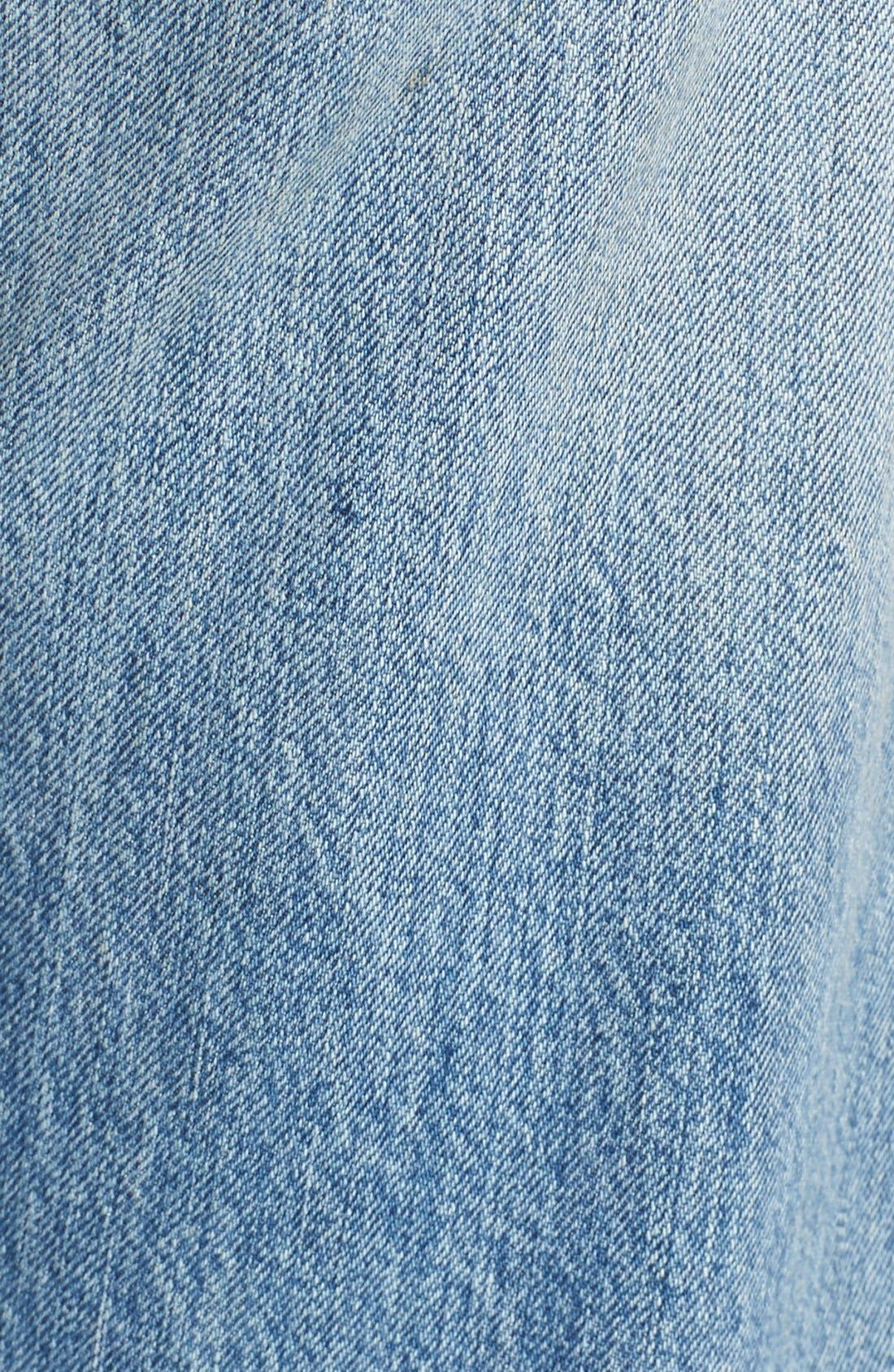 Alternate Image 5  - Levi's® '501 CT' Crop Distressed Boyfriend Jeans (Time Gone By)