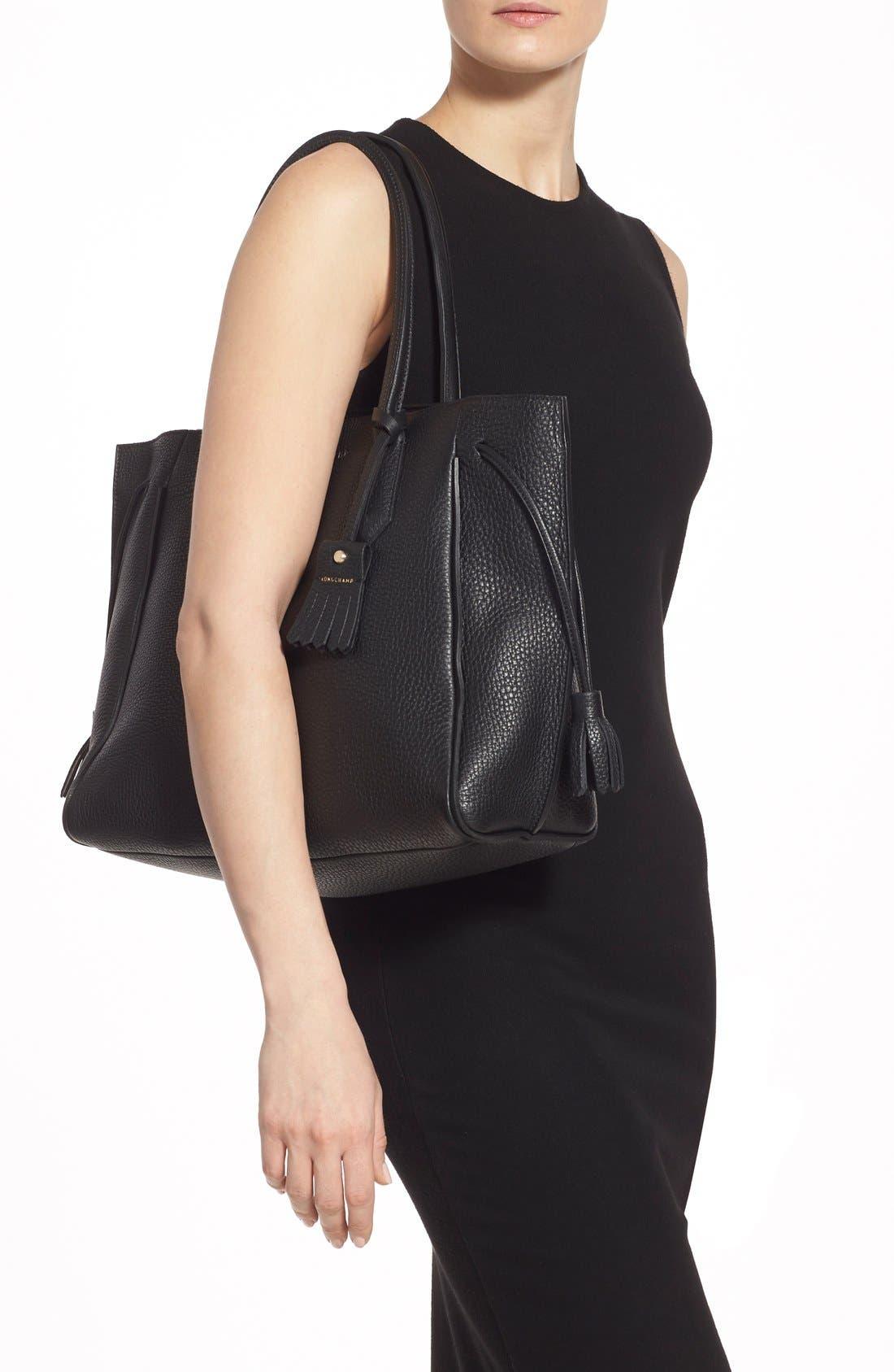 Alternate Image 2  - Longchamp 'Penelope' Tassel Drawstring Leather Tote
