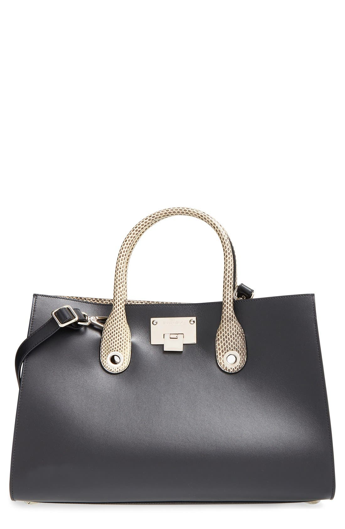 Alternate Image 1 Selected - Jimmy Choo 'Riley' Leather Tote