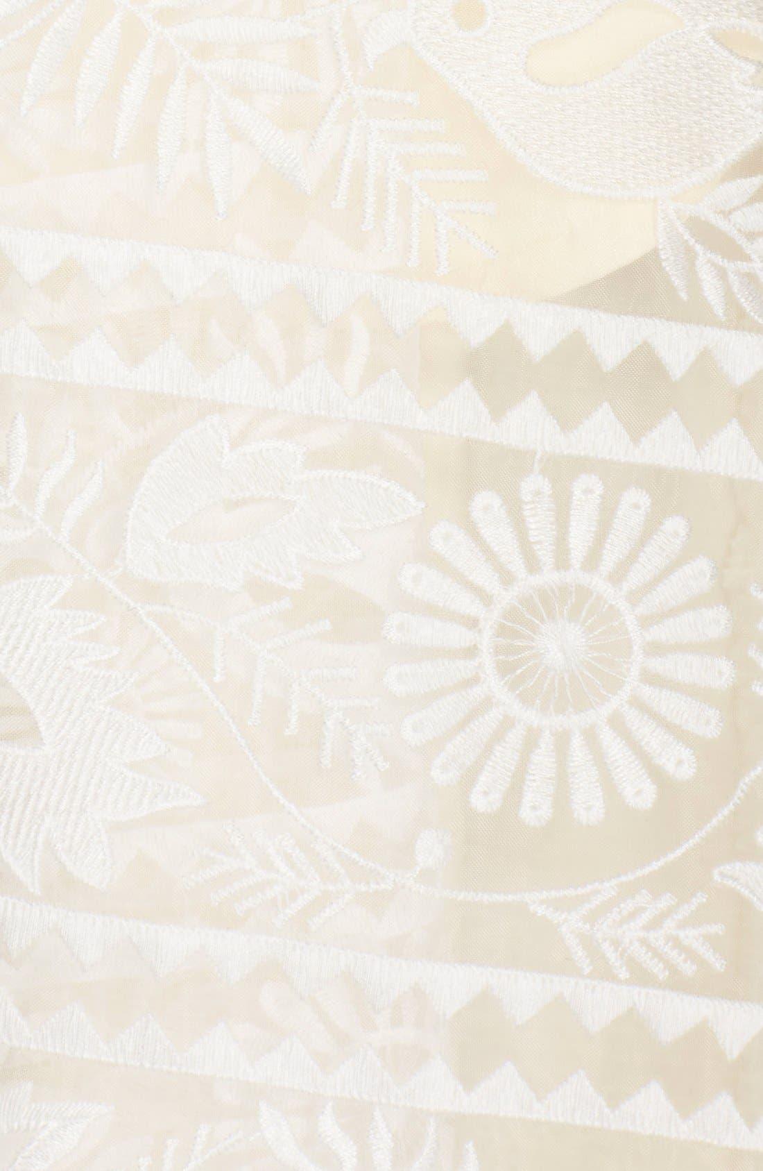 Alternate Image 5  - Paper Crown by Lauren Conrad Organza Lace V-Neck Top