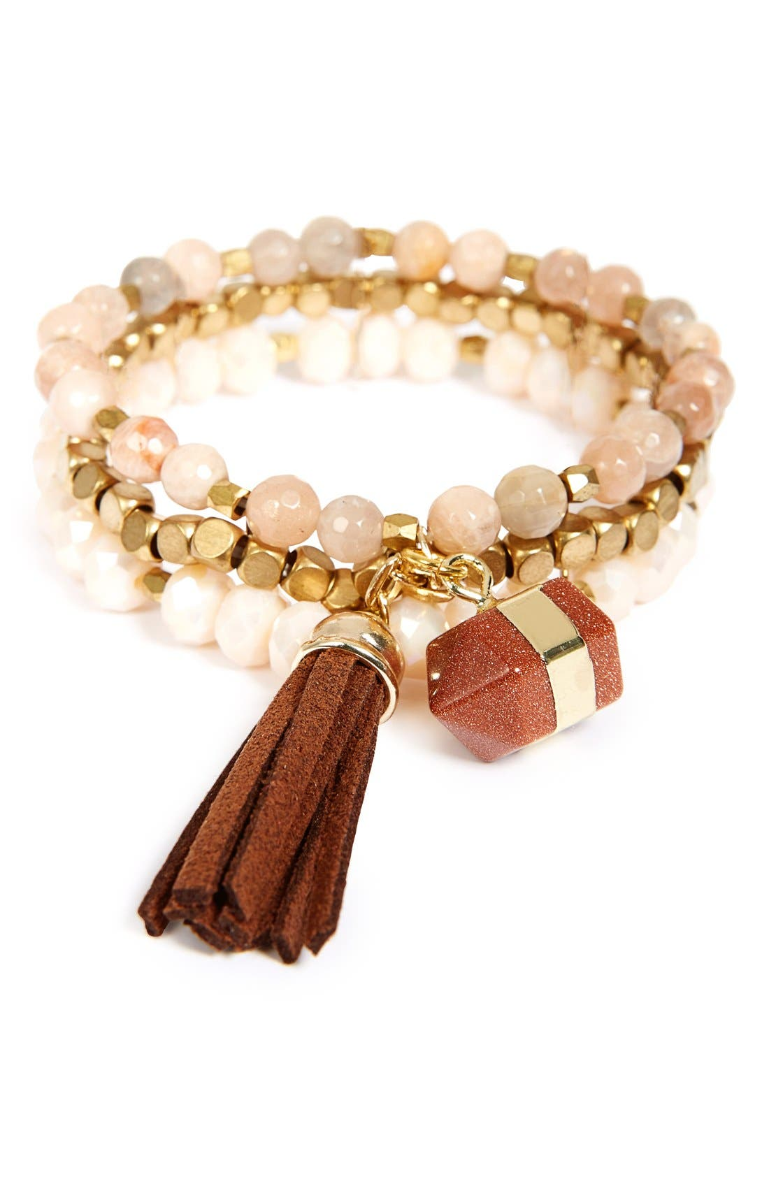Alternate Image 1 Selected - Panacea Stone & Bead Multistrand Bracelet