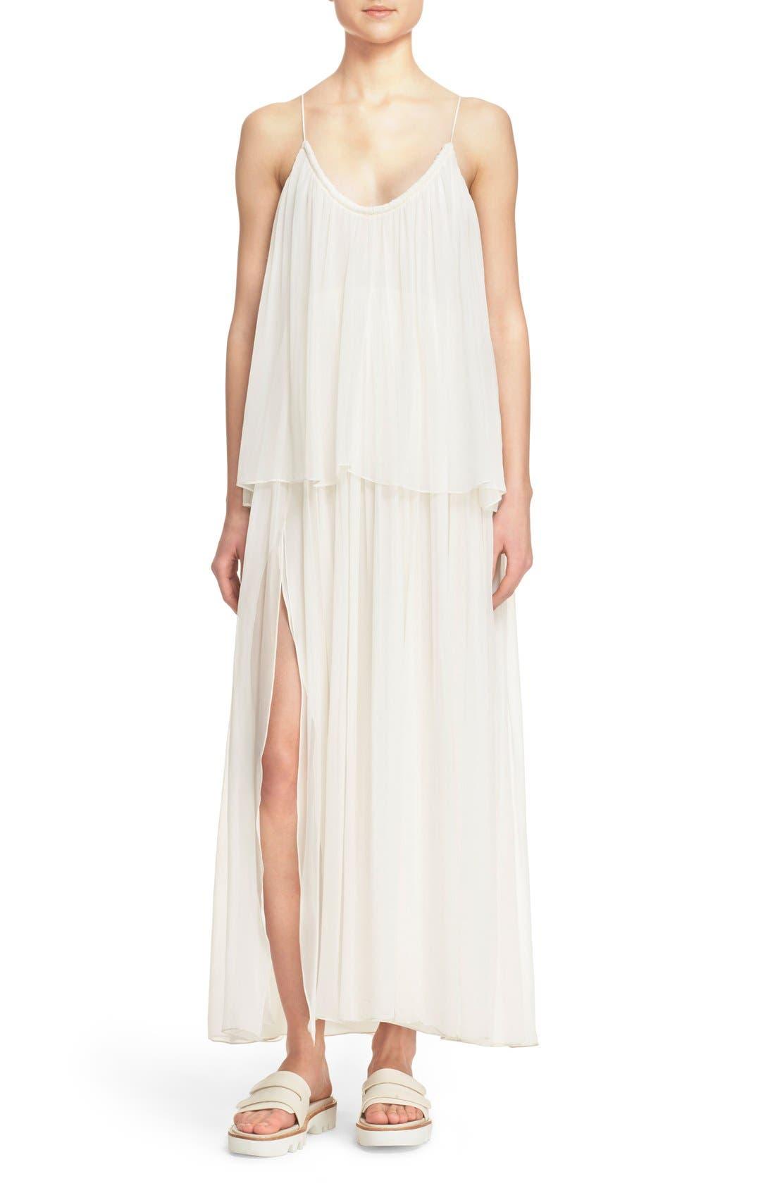 Main Image - Elizabeth and James 'Mael' Blouson Silk Maxi Dress