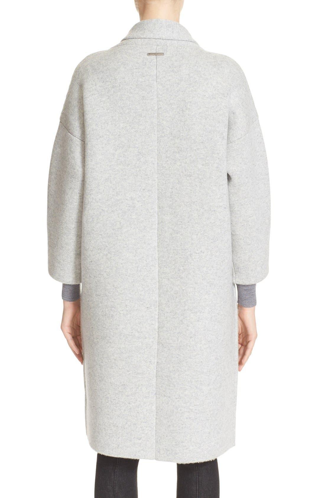Alternate Image 2  - Burberry Brit Wool & Cashmere Knit Long Coat