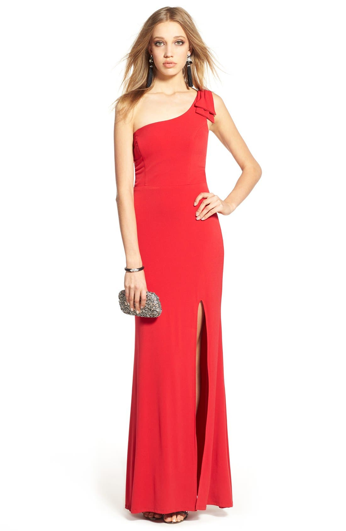 Alternate Image 6  - Way-In 'Kelly' One-Shoulder Gown