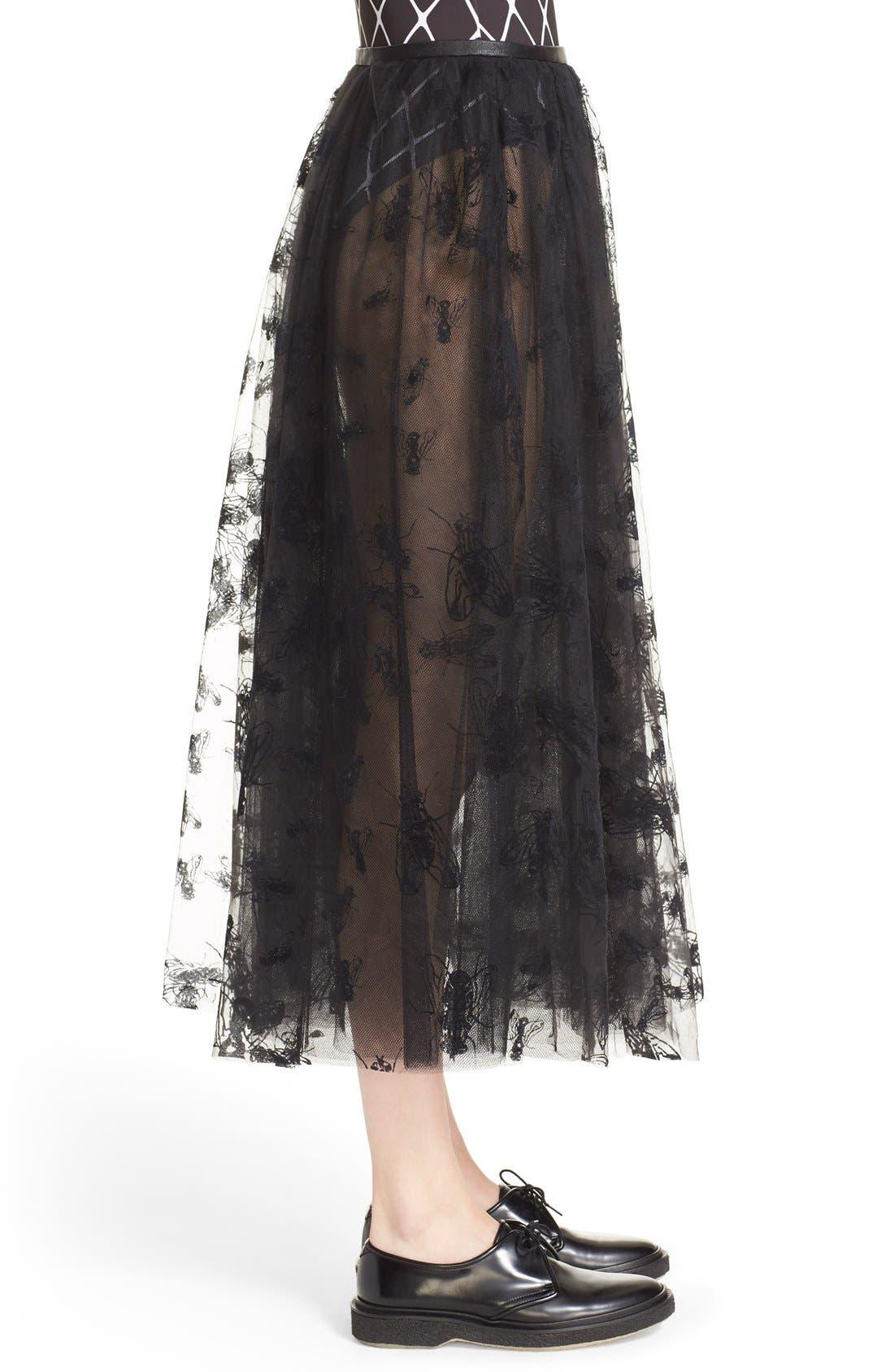 Alternate Image 5  - Ashley Williams 'Flock Fly' Sheer Tulle Skirt