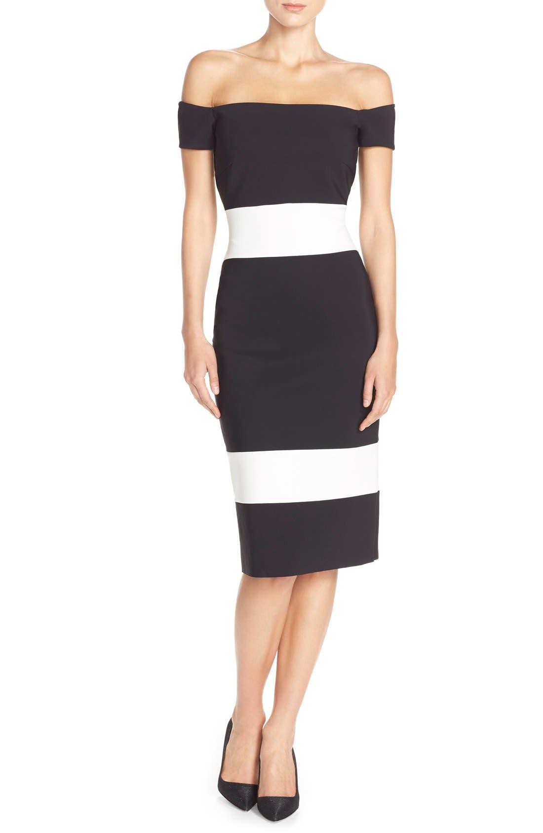 Alternate Image 4  - Chiara Boni La Petite Robe 'Bebel' Stripe Jersey Sheath Dress