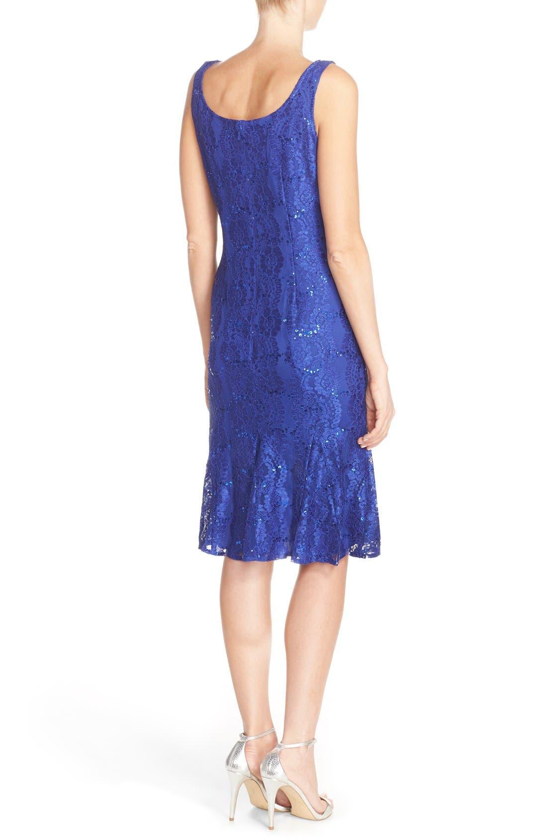 Alternate Image 2  - Alex Evenings Embellished Lace Fit & Flare Dress with Jacket