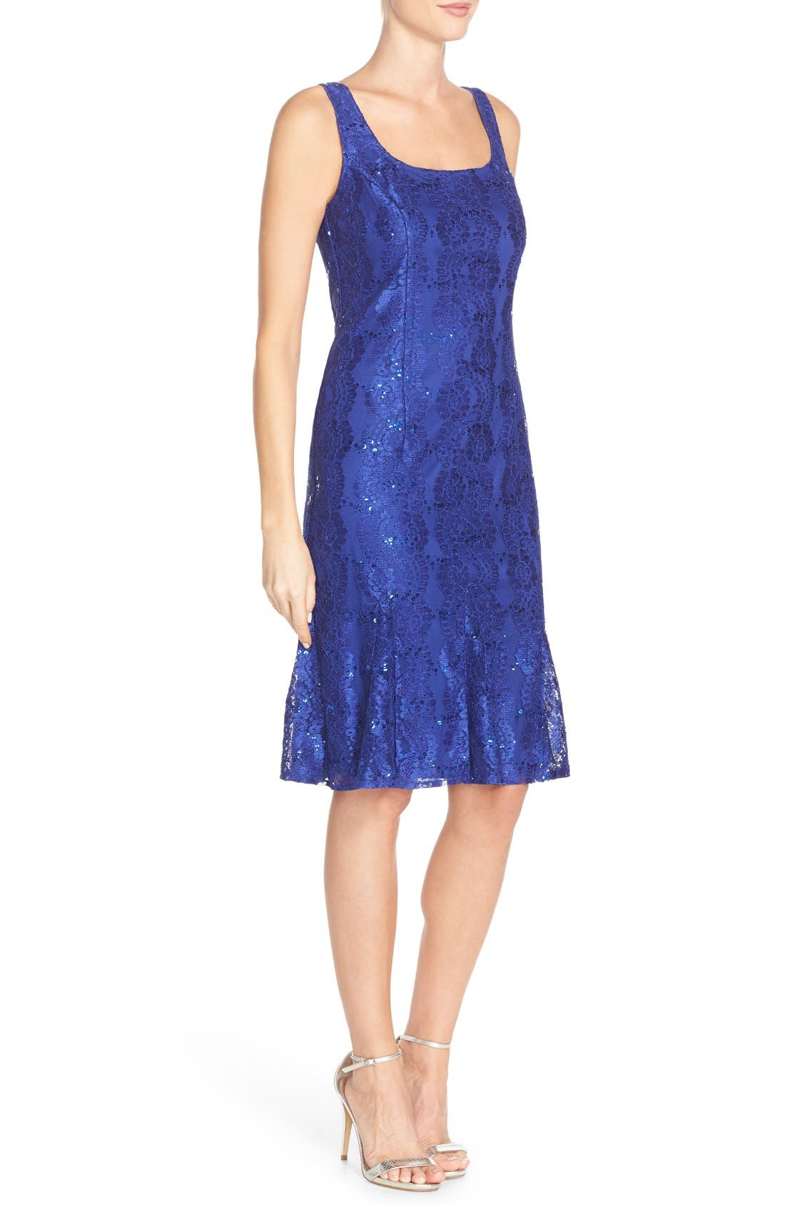 Alternate Image 3  - Alex Evenings Embellished Lace Fit & Flare Dress with Jacket
