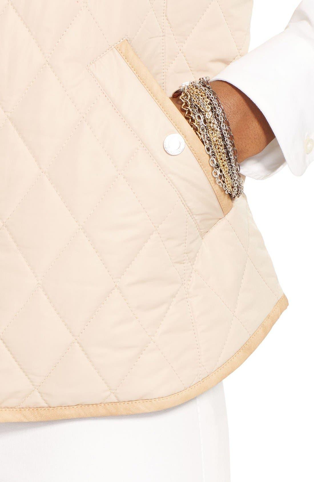 Alternate Image 4  - Lauren Ralph Lauren Faux Leather Trim Vest