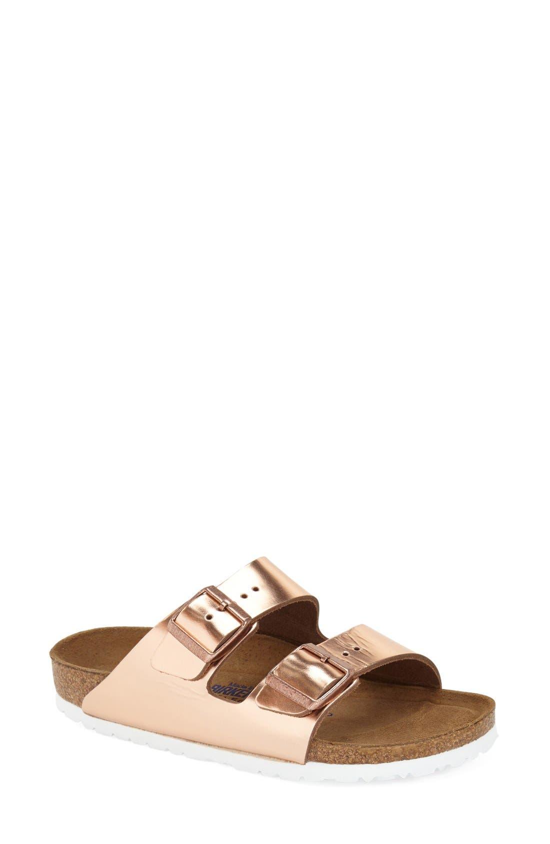 Main Image - Birkenstock 'Arizona' Patent Leather Sandal (Women)
