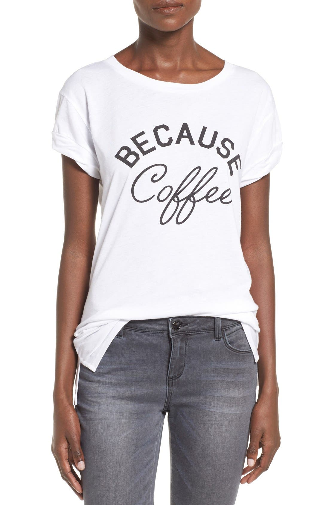 Alternate Image 1 Selected - Ten Sixty Sherman 'Because Coffee' Graphic Tee