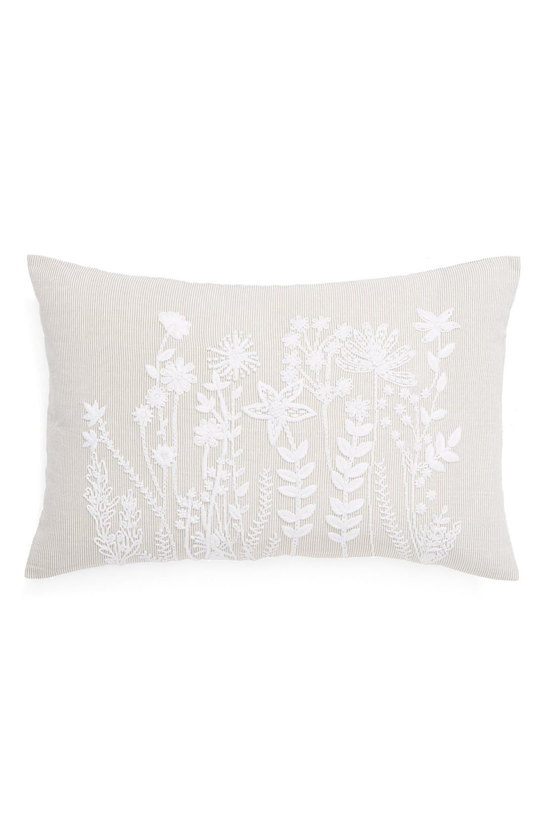 Alternate Image 1 Selected - Nordstrom at Home 'Flower Stripe' Pillow
