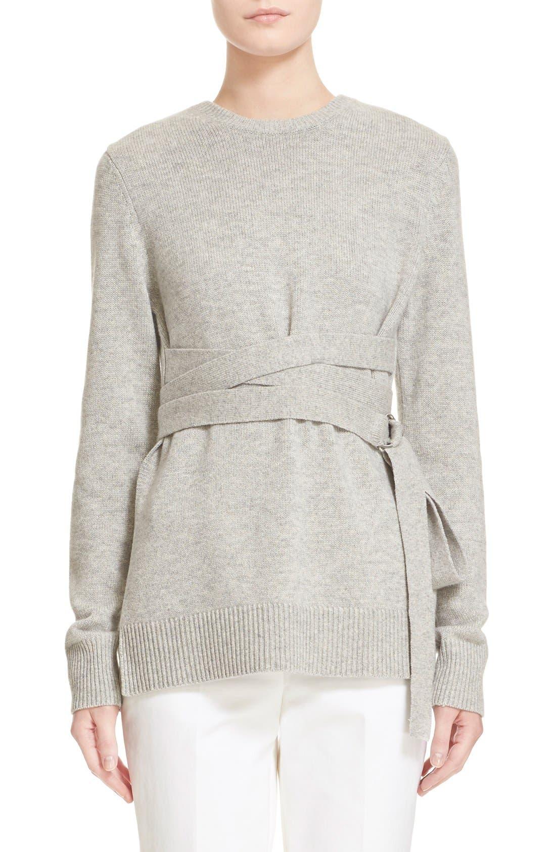 Alternate Image 1 Selected - Michael Kors Wrap Belt Cashmere Sweater