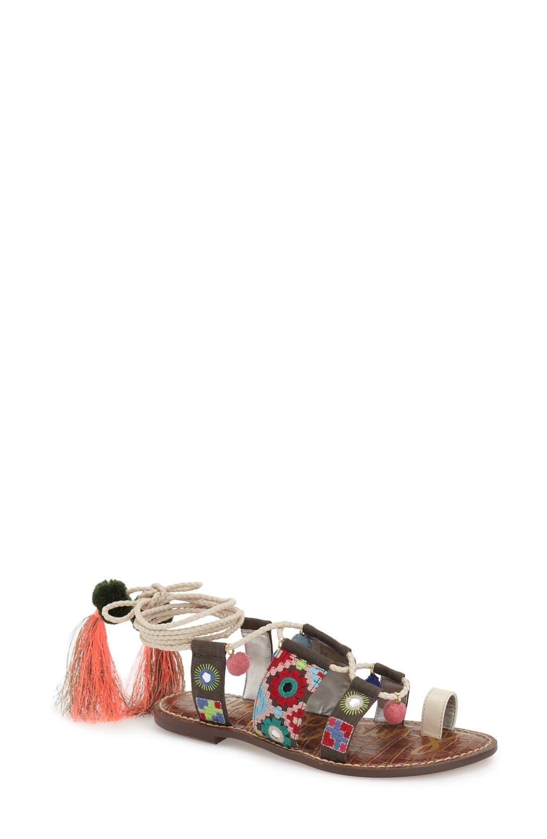 Sam Edelman 'Gretchen' Embellished Lace-Up Sandal (Women)