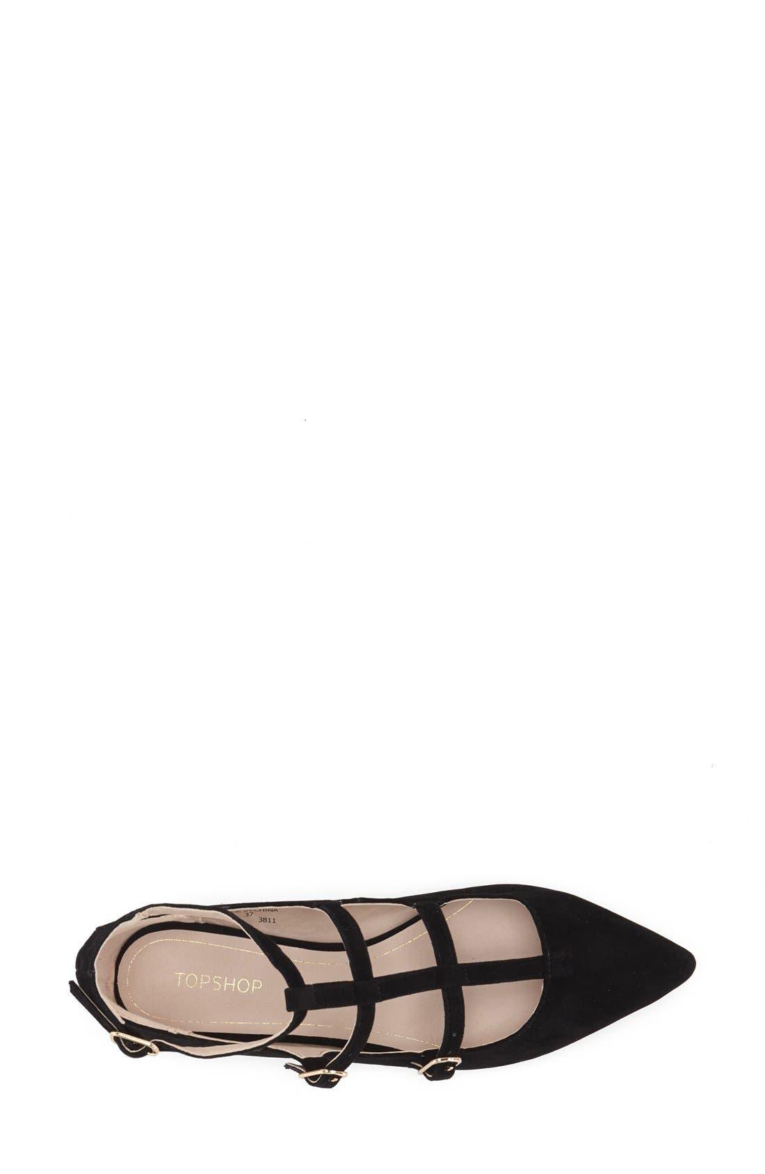 Alternate Image 3  - Topshop 'Freya' Strappy Pointy Toe Flat (Women)