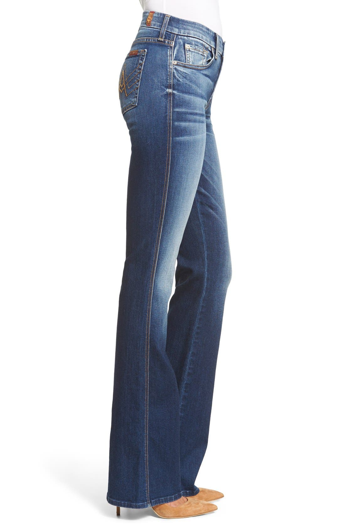 Alternate Image 3  - 7 For All Mankind® A-Pocket Flare Jeans (Bright Indigo)