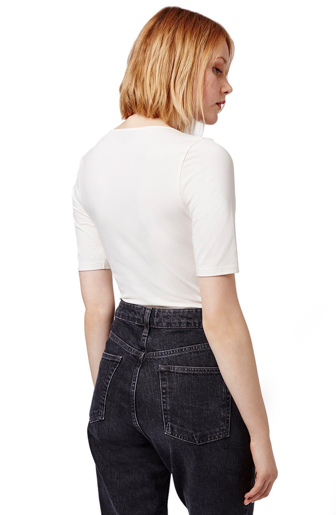 Alternate Image 3  - Topshop Lace-Up Bodysuit