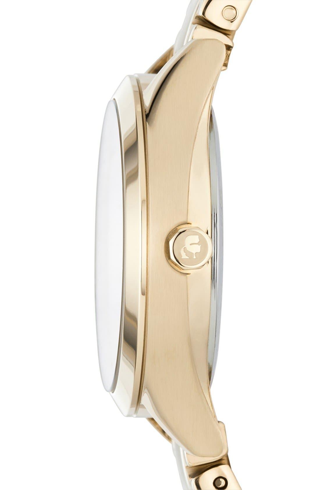 Alternate Image 2  - Karl Lagerfeld 'Belleville' Bracelet Watch, 31mm